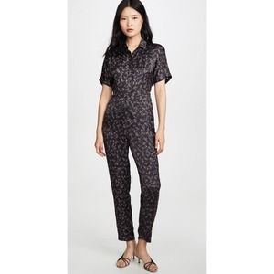 Knot Sisters Jesse Paisley Collared  Jumpsuit